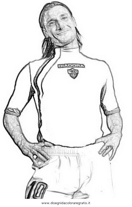 Disegni Da Colorare Di Francesco Totti Idea Di Immagine Del Giocatore