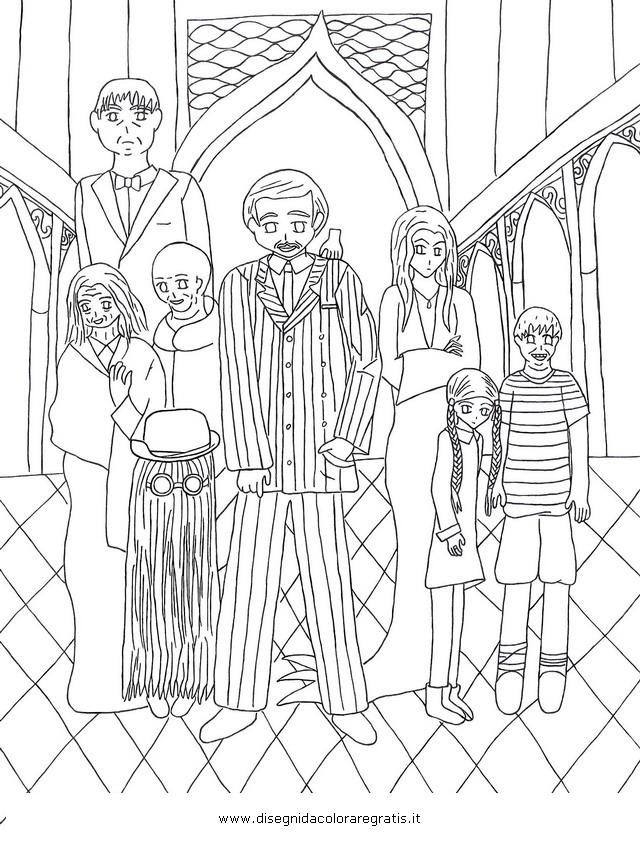Disegno Addams 1 Misti Da Colorare