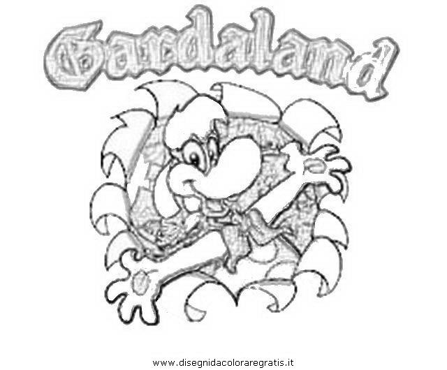 Disegno Gardaland 3 Misti Da Colorare