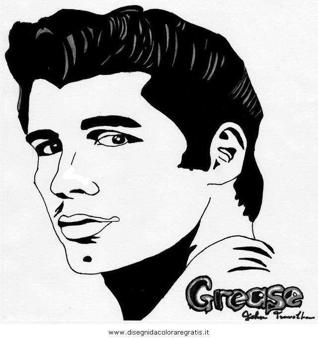 Disegno Grease Misti Colorare