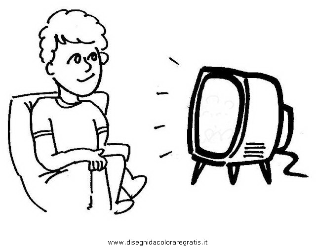 Disegno Televisione Da Colorare.Disegno Guardare Tv 1 Misti Da Colorare