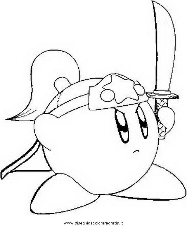 Disegno Kirby2 Misti Da Colorare