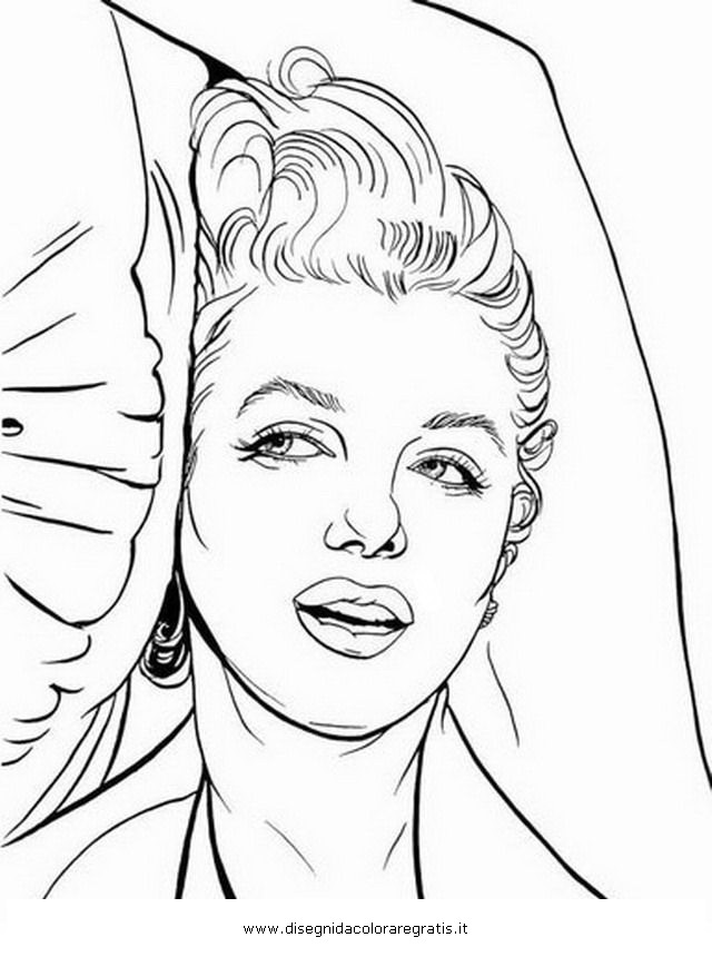 printable marilyn monroe coloring pages - photo#15