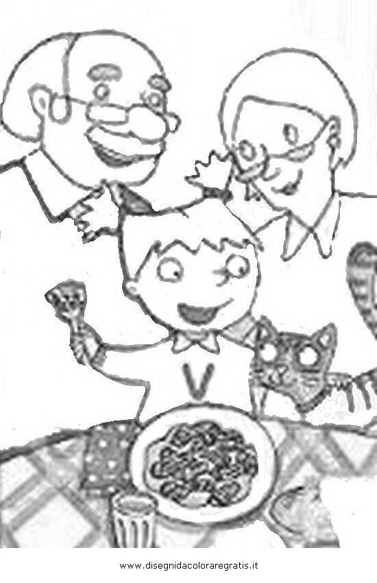Disegno piccola valentina personaggio cartone animato