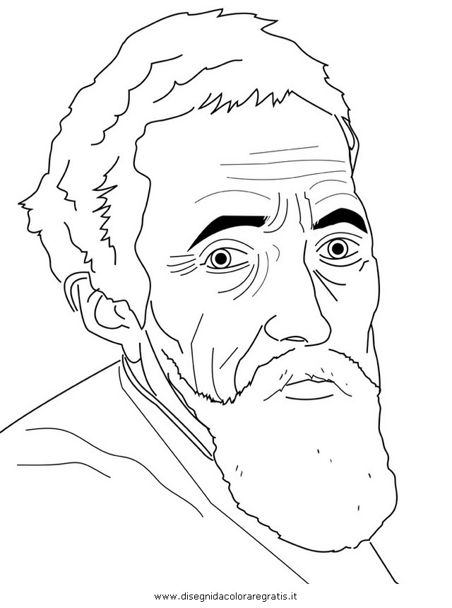 Free Coloring Pages Of Works Of Michelangelo Michelangelo Coloring Pages
