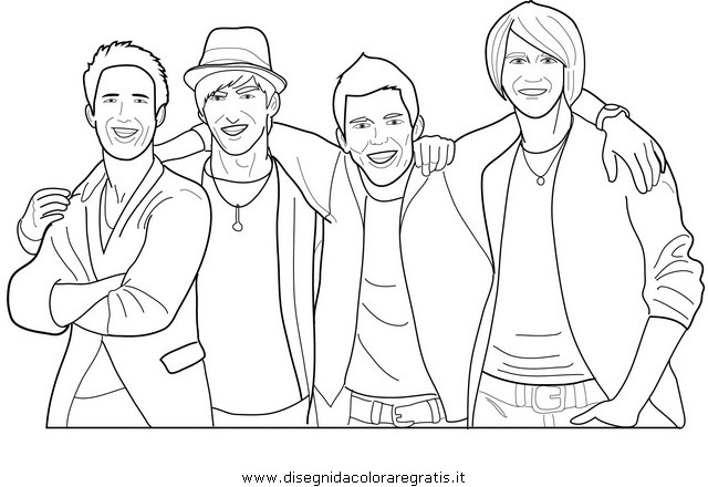 disegni da colorare big time rush da stampare