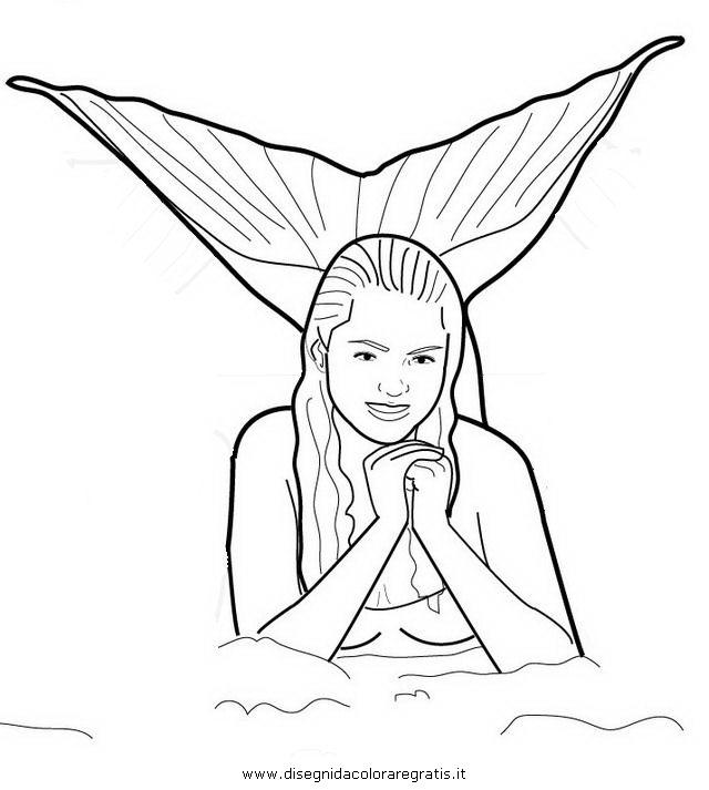 coloring pages mermaids h2o sims | Disegno h2o_2 misti da colorare