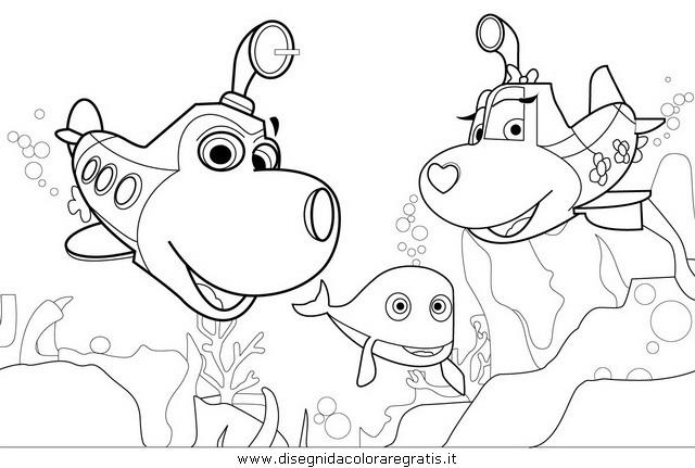 Disegno olly sottomarino personaggio cartone animato da