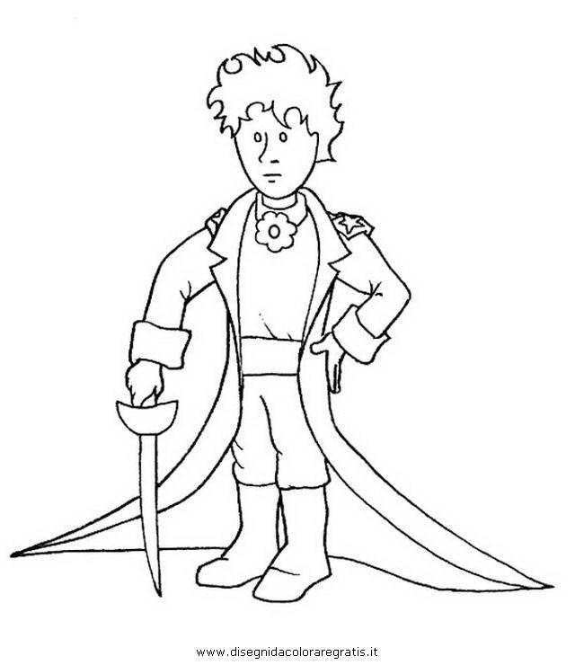 Disegno Piccolo Principe Misti Da Colorare