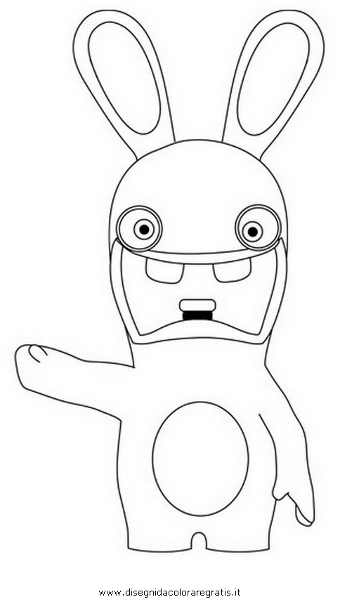 Free coloring pages of rabbid invasion Rabbids Coloring Pages