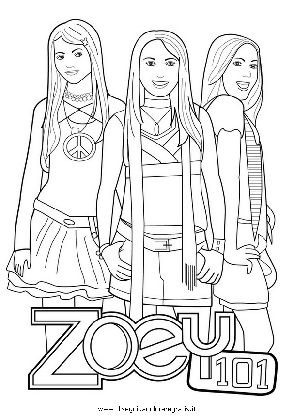 disegni da colorare e stampare gratis di zoey 101