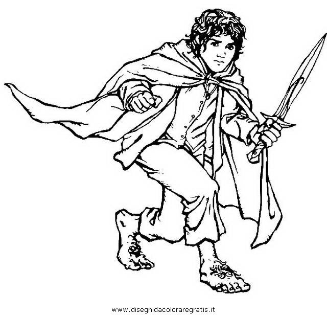 Disegno hobbit 2 misti da colorare for The hobbit coloring pages