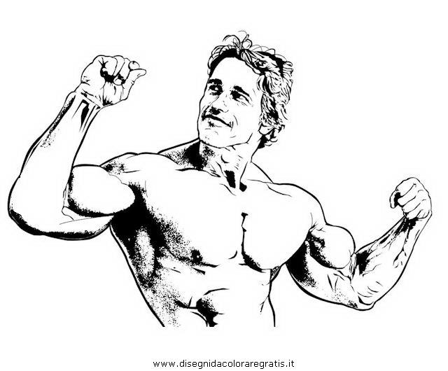 Disegno Arnold Schwarzenegger 2 Misti Da Colorare