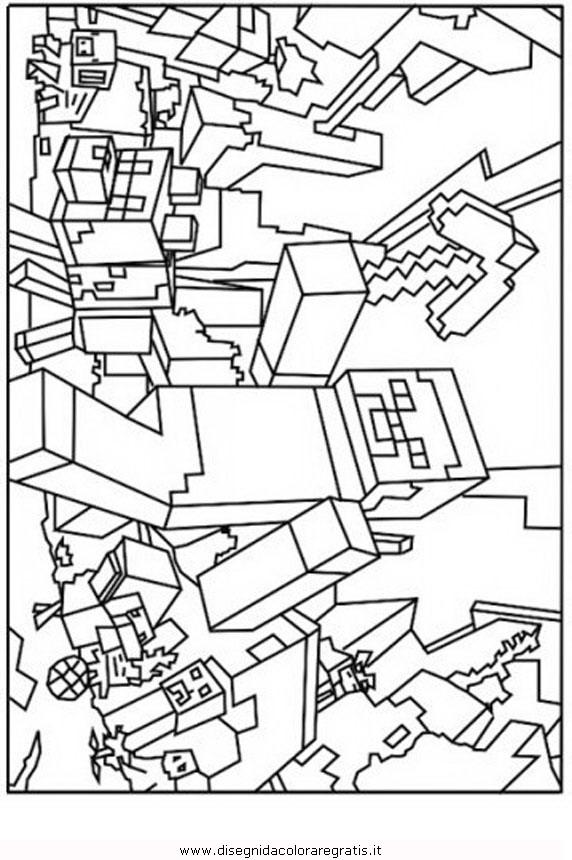 disegni da colorare minecraft steve  scarica  stampa