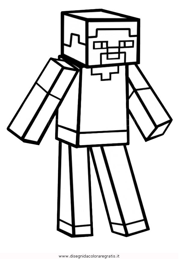 Disegni Minecraft Da Colorare Stampae Colorare