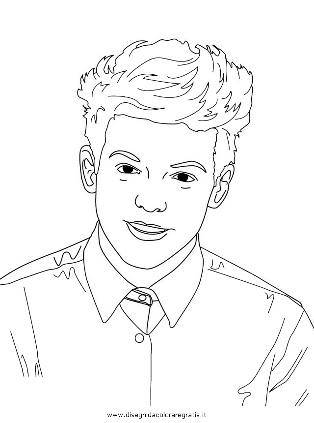 1 Direction Colouring Pictures One Coloring Pages Sketch Page