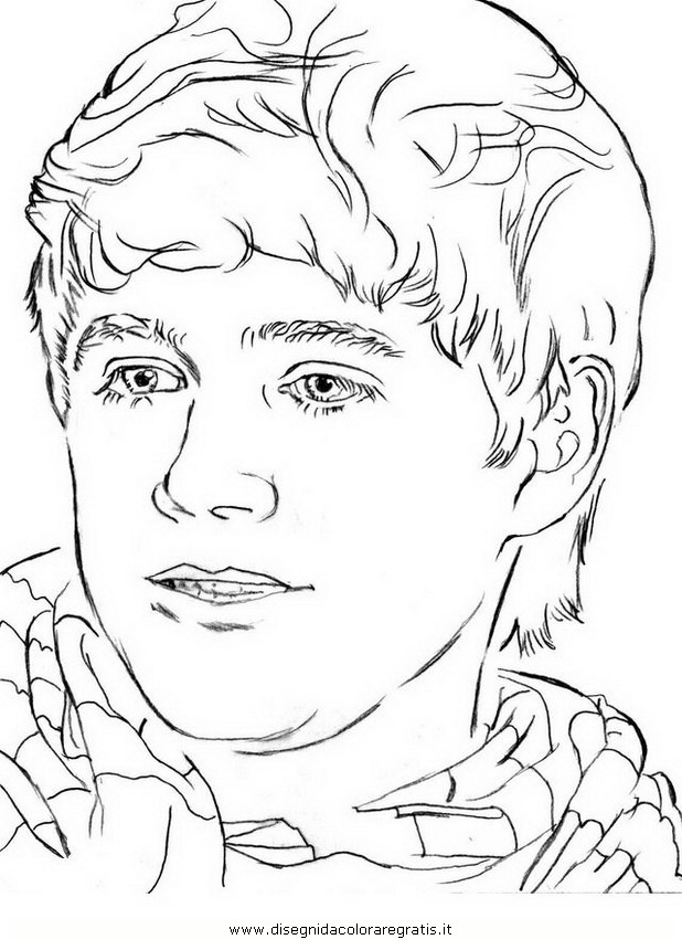 One Direction Niall Coloring Pages