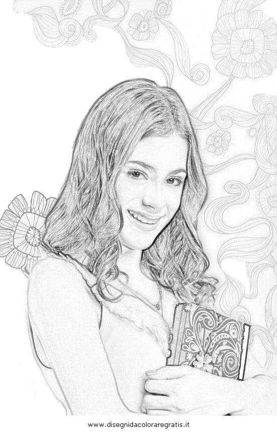 Disegno Violetta Personaggio Cartone Animato Da Colorare