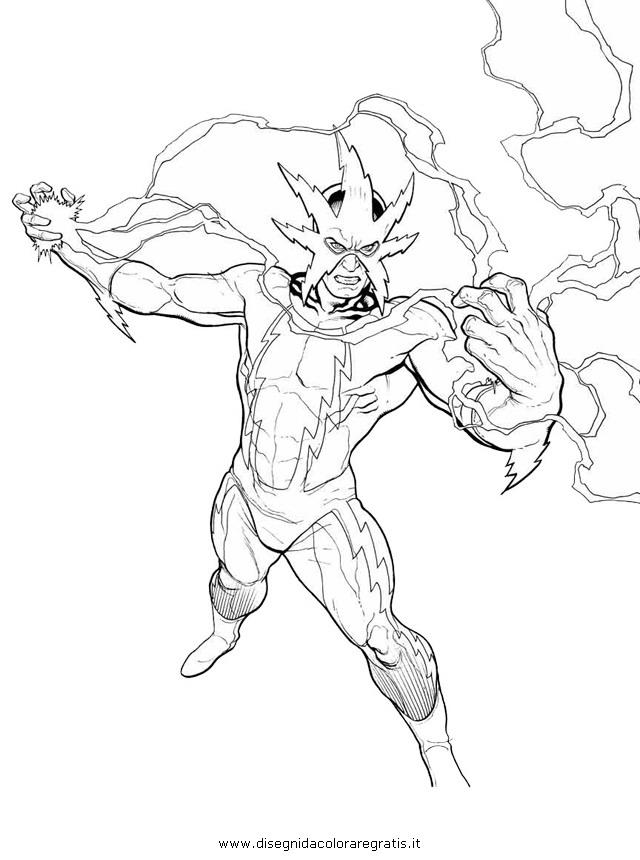 Disegno electro 01 misti da colorare for Disegni spiderman da colorare gratis