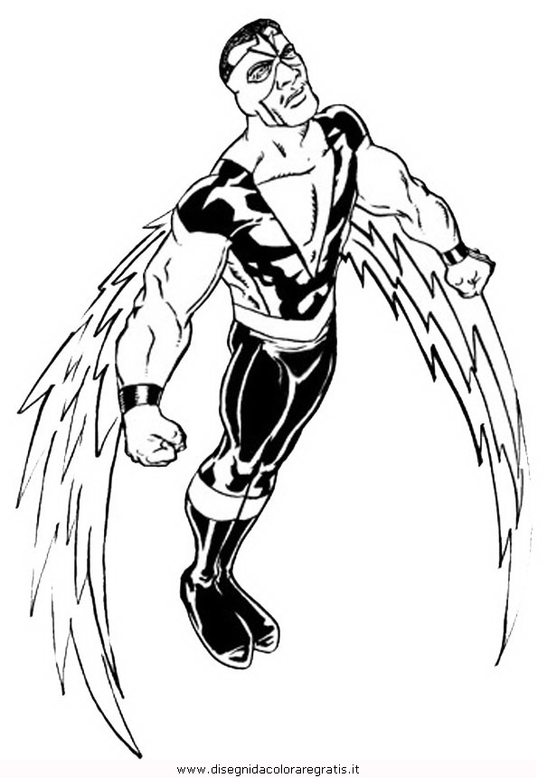 falcon avengers coloring pages - photo#2
