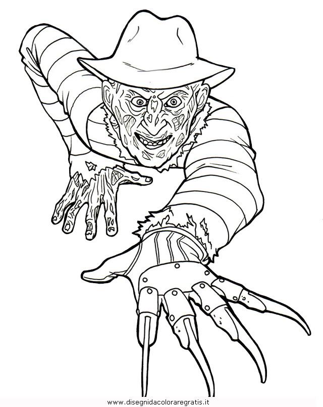 Disegno Freddy Krueger 1 Misti Da Colorare