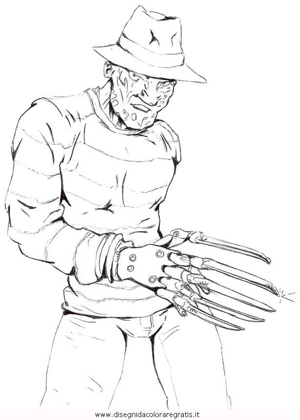 Disegno Freddykrueger4 Misti Da Colorare