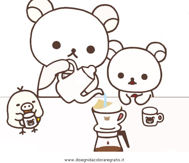 Disegno rilakkuma 0 misti da colorare for Rilakkuma coloring pages