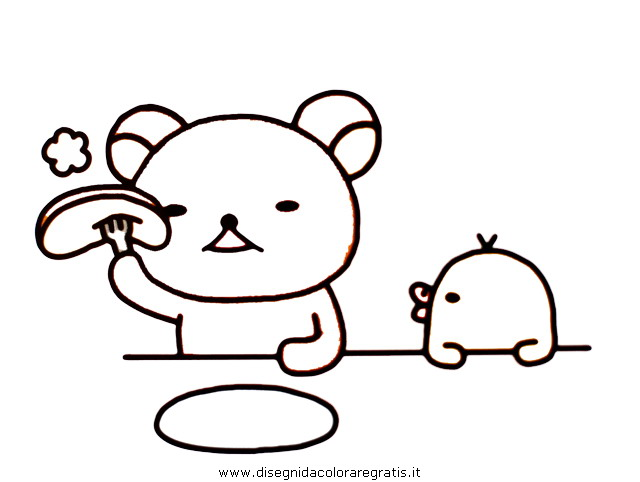 Rilakkuma coloring sheets pictures to pin on pinterest for Rilakkuma coloring pages