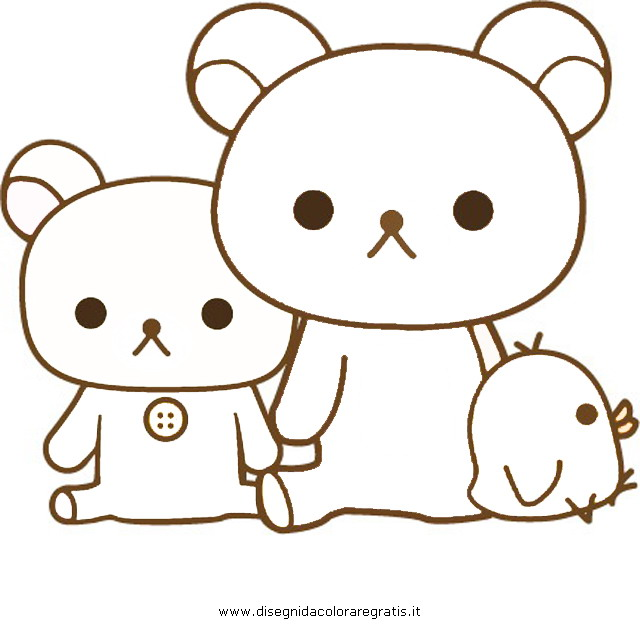 Disegno rilakkuma 3 misti da colorare for Rilakkuma coloring pages