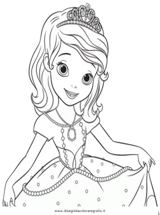 disegno sofia principessa 3 misti da colorare