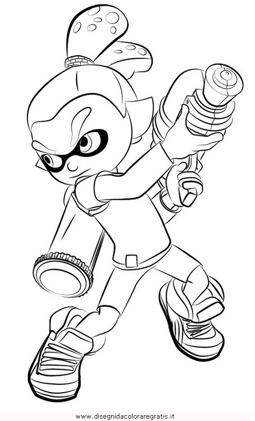Splatoon Colouring Pages Sketch Coloring Page