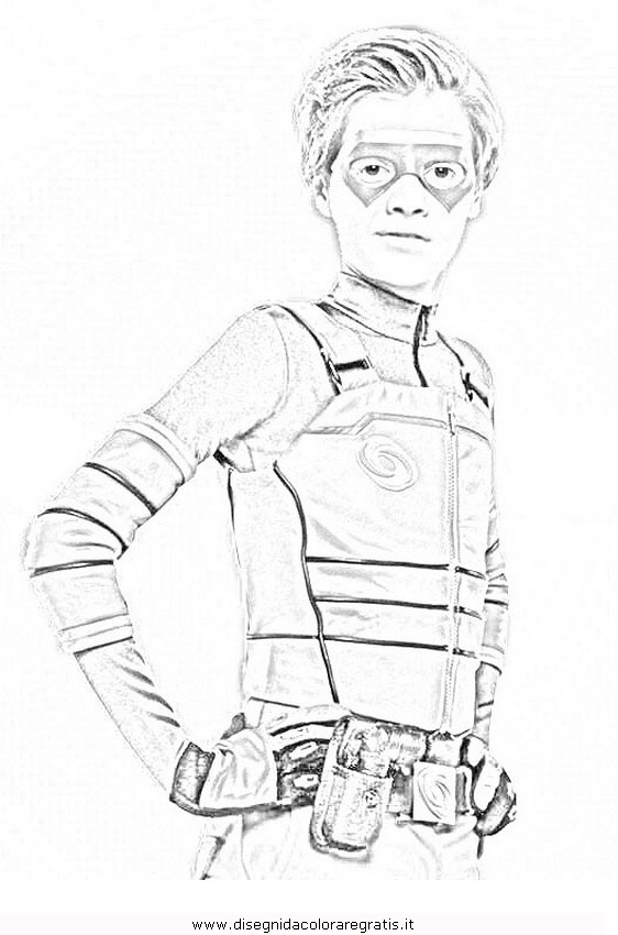 Henry Danger Coloring Pages Sketch Coloring Page