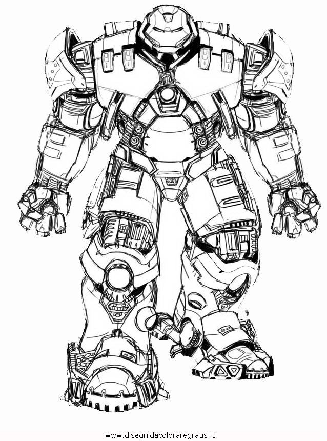 Disegno Hulkbuster 1 Personaggio Cartone Animato Da Colorare