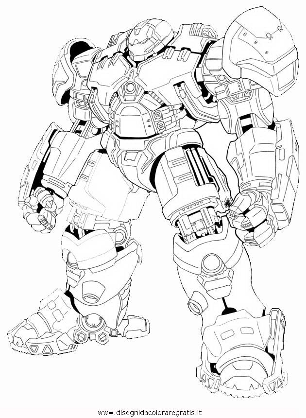 Disegno hulkbuster personaggio cartone animato da colorare