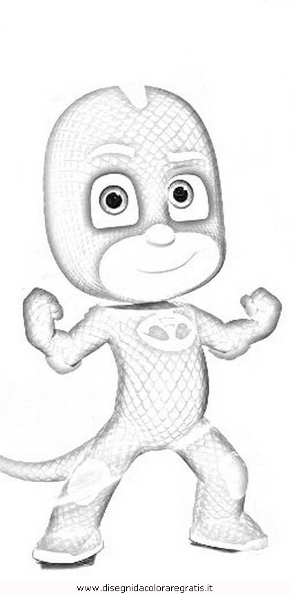 Pj coloring masks sketch coloring page for Pjmask da colorare