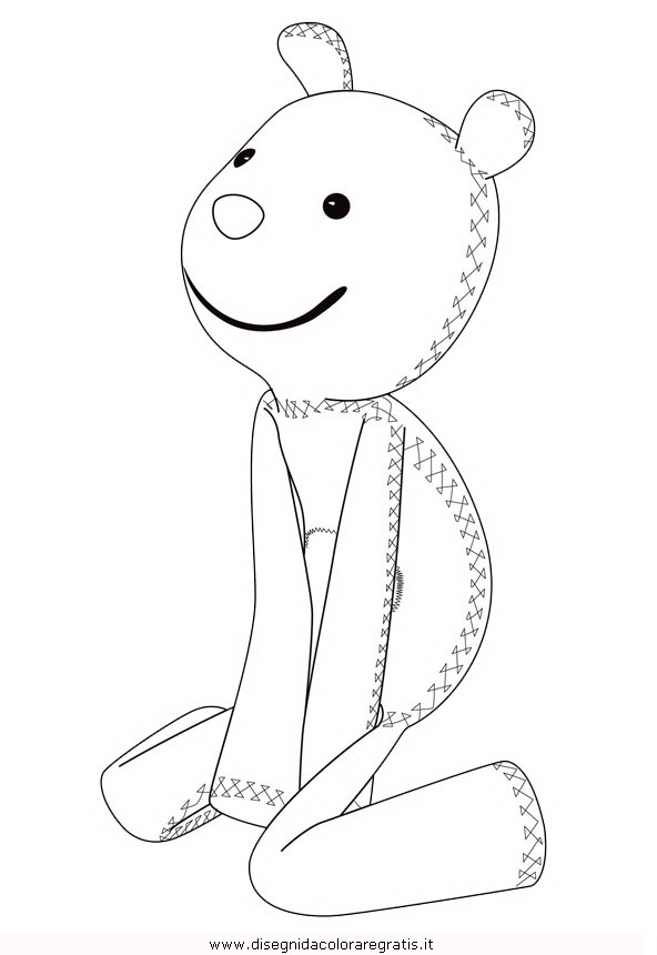 Disegno topo tip teddy misti da colorare for Immagini topo tip