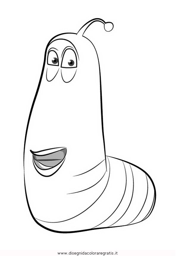Disegno larva misti da colorare for Disegni zig e sharko