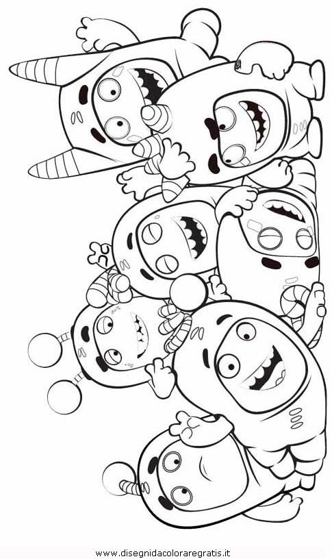 disegno di zee degli oddbods da stampare e colorare sketch