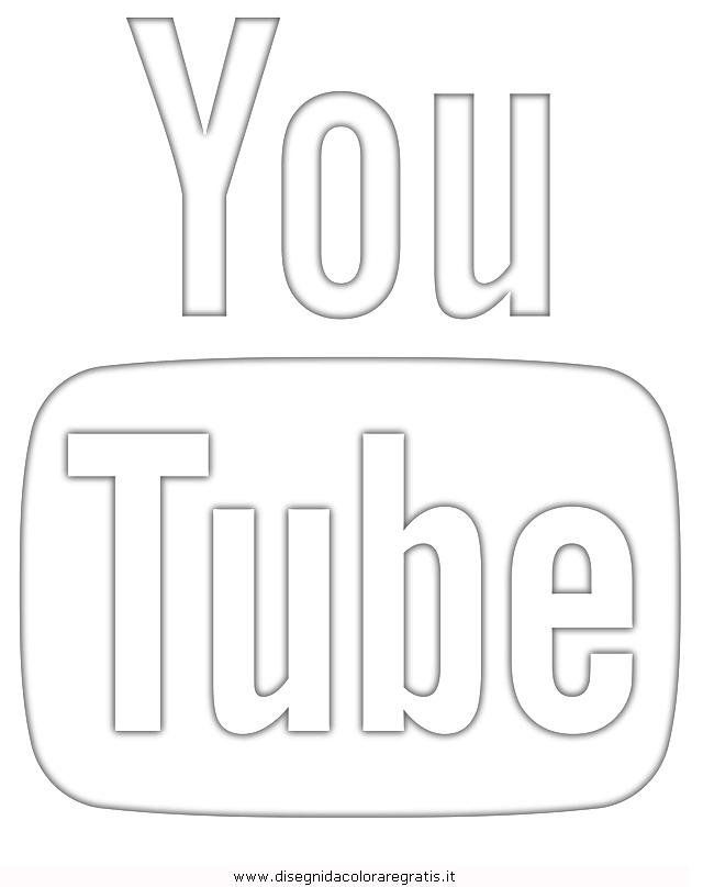 Disegno Youtube Misti Da Colorare