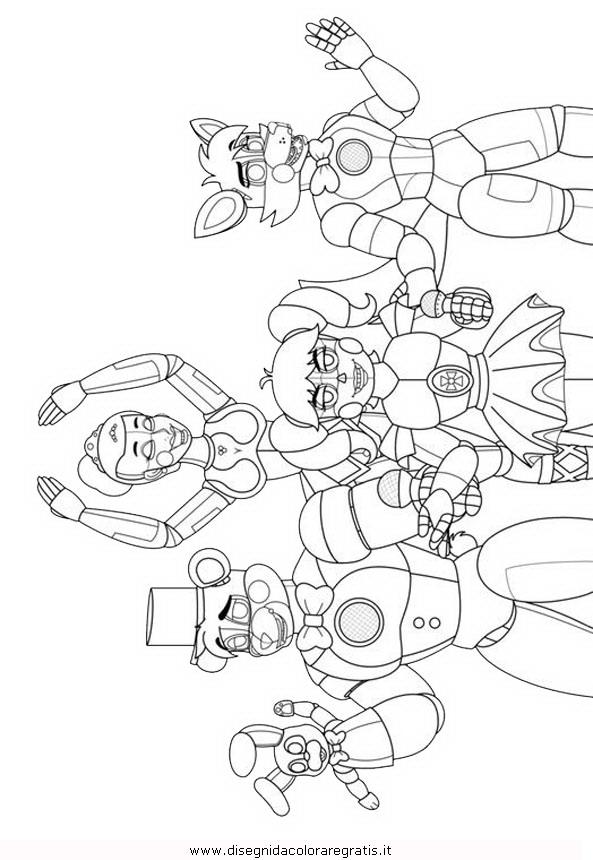 Disegno Animatronics 01 Misti Da Colorare