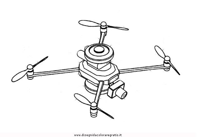 Disegno drone misti da colorare for Disegni zig e sharko