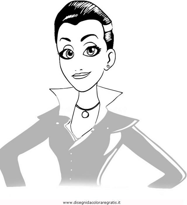 Disegno Monster Family Vampira Personaggio Cartone Animato Da Colorare