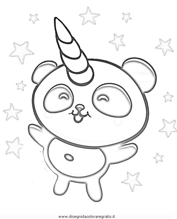Disegno Pandacorno Misti Da Colorare