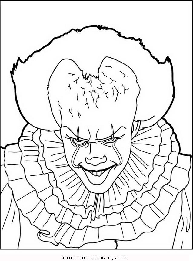 Disegno pennywise 1 misti da colorare for Immagini di clown da colorare
