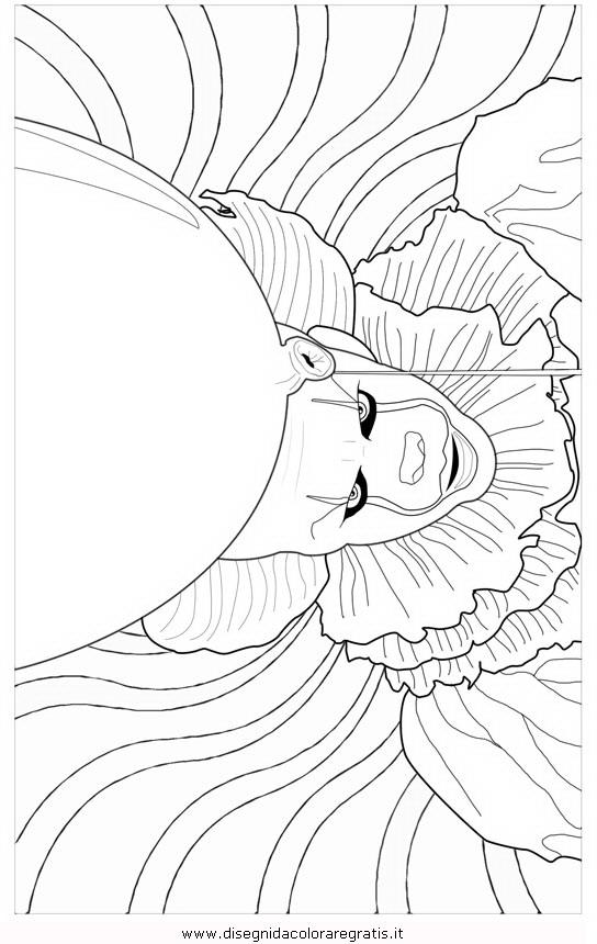 Disegno pennywise 2 misti da colorare for Disegno pagliaccio da colorare