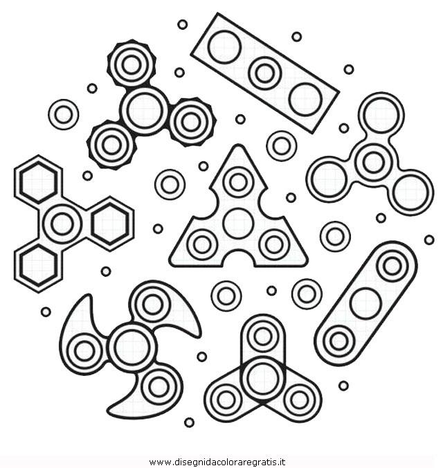 Ausmalbilder Fidget Spinner: Disegno Spinner-02 Misti Da Colorare