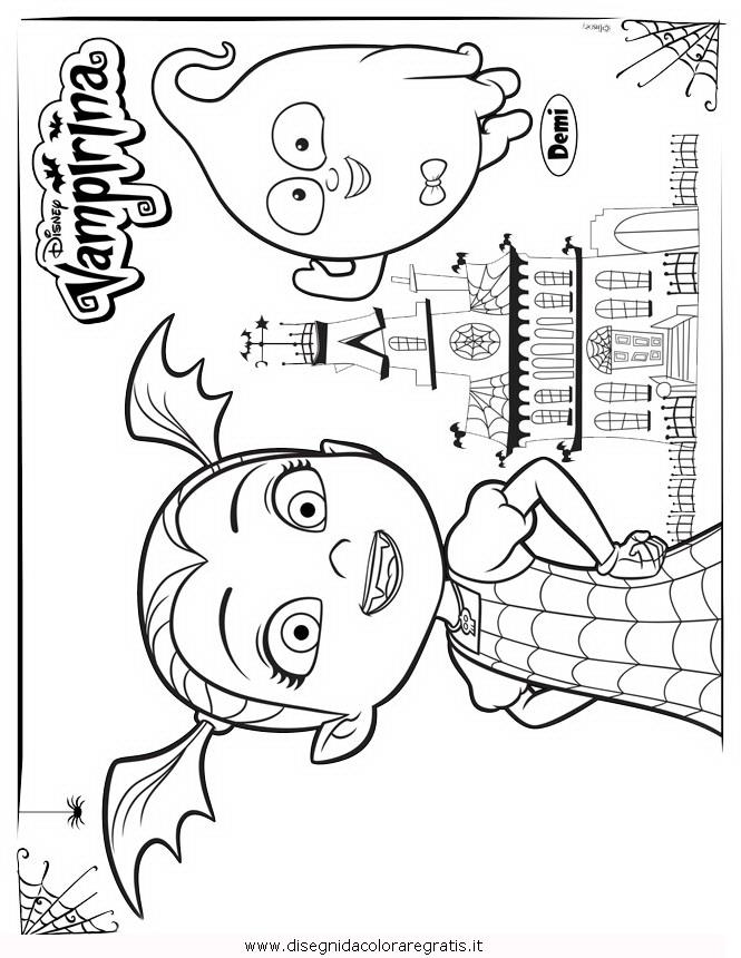 Disegno Vampirina 01 Misti Da Colorare