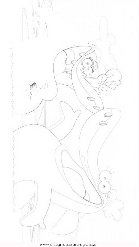 disegno zig sharko 2 misti da colorare