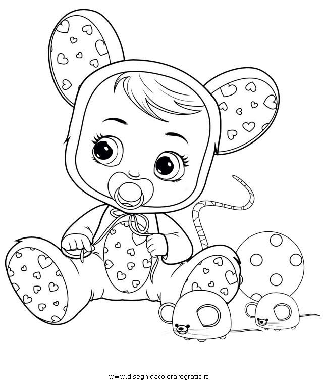 Disegni Da Colorare In A4.Disegno Cry Babies Lala Misti Da Colorare