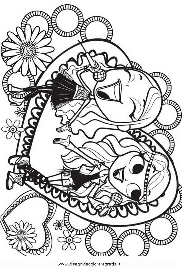 Disegno Maggie Bianca 2 Misti Da Colorare